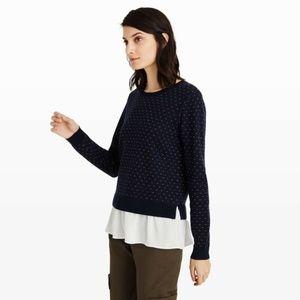 Club Monaco Navy Ryta Merino Wool Sweater Small